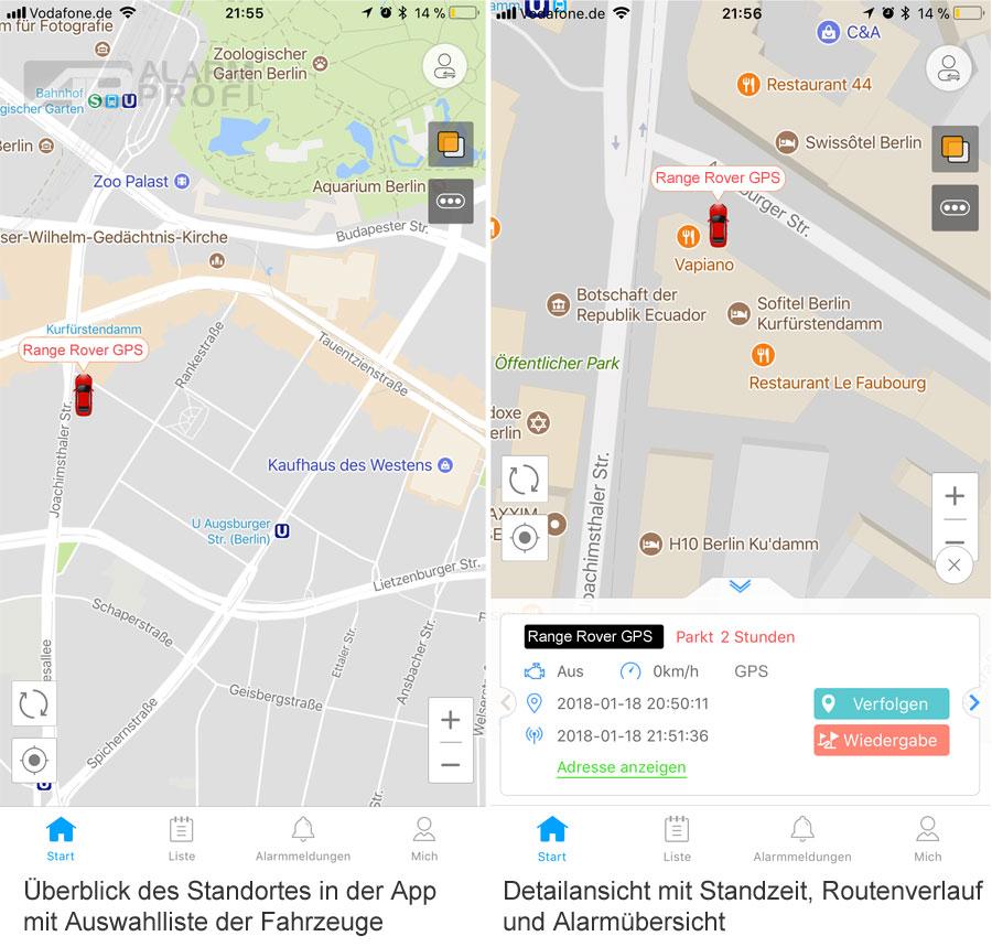 GPS Tracker - Fahrzeugortung - App
